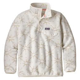 Patagonia Girl's Synchilla Snap-T Pullover, Solar Pow/Birch White
