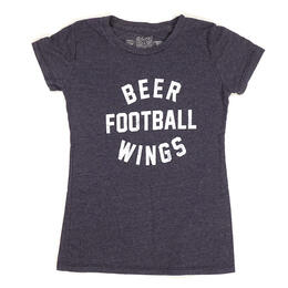 Original Retro Brand Women's Beer Football Wings Short Sleeve T Shirt