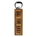 Ski The East Wood Magnet Bottle Opener