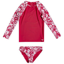 Roxy Girl's Enjoy Waves Long Sleeve Rash Guard Set