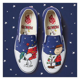 Vans x Peanuts Men's Classic Slip-On Charlie & Tree Shoes