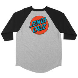 Santa Cruz Men's Other Dot Raglan T Shirt