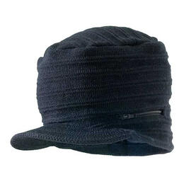 Screamer Men's Zip Rock Billed Beanie Cap
