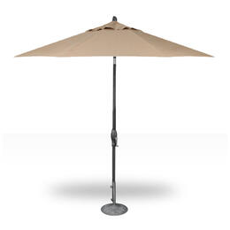 Treasure Garden 9' Auto Tilt Umbrella - Anthracite with Heather Beige