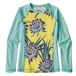 Patagonia Girl's Cereus Flower Long Sleeve Silkweight Rashguard