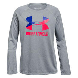 Under Armour Girl's Big Logo Long Sleeve T Shirt