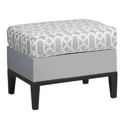 Libby Langdon Ridgewood Collection Ottoman - Grey