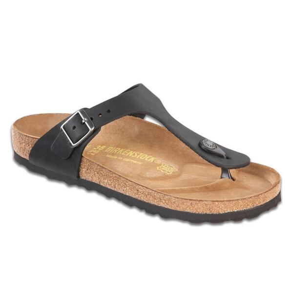 Birkenstock Women's Gizeh Oiled Leather Casual Sandals