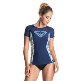 Roxy Women's Sea Lovers Short Sleeve Rashguard