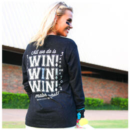 Jadelynn Brooke Women's All We Do is Win Win Win No Matter What Longsleeve Tee