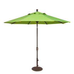 Treasure Garden 9' Push Button Tilt Aluminum Shade Umbrella Bronze/Macaw