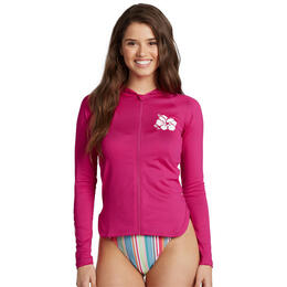 Roxy Women's Sandy Hooded Long Sleeve Rash Guard