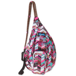 KAVU Women's Mini Rope Sling Sunset Blocks Backpack