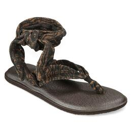 Sanuk Women's Yoga Slinged Up Prints Sandals Brown/Brown Tribal