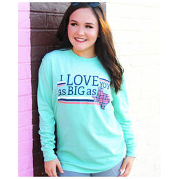 Jadelynn Brooke Women's I Love You as Big as Texas Longsleeve Tee