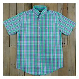 Southern Marsh Men's Natahala Plaid Short Sleeve Dress Shirt