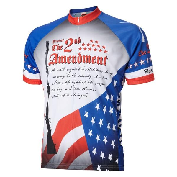 World Jerseys 2nd Amendment Short Sleeve Cycling Jersey