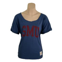Original Retro Brand Women's Smu Relaxed Dolman Tee Shirt