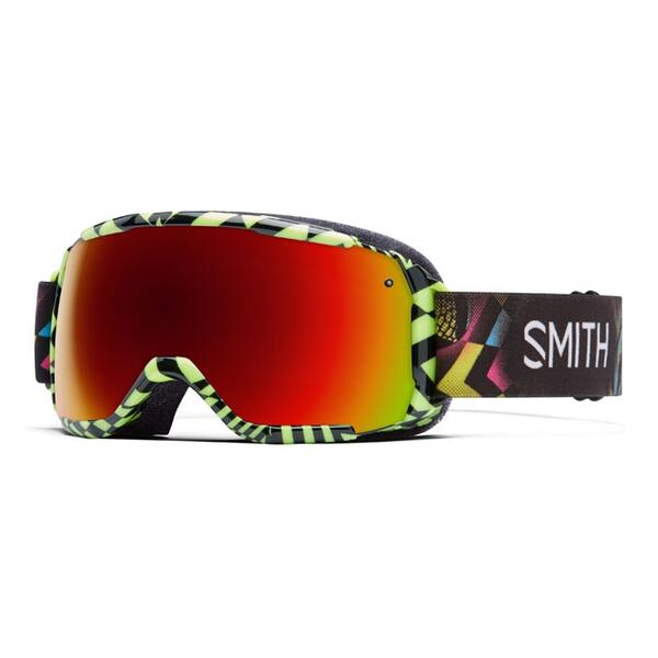 Smith Youth Grom Snow Goggles With Red Sol X Lenses