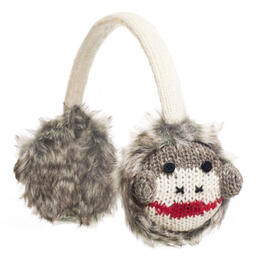 Knitwits Cute Sock Monkey Earmuffs