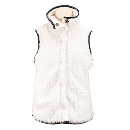 Dylan by True Grit Women's Ultra Soft Sherpa Mock Vest