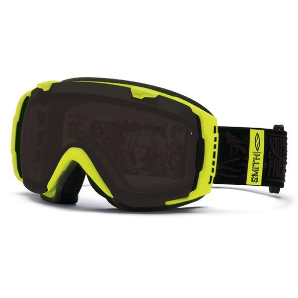 Smith I/O Goggles with Blackout and Blue Sensor Lenses