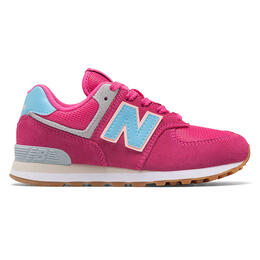 New Balance Girl's 574 Pink/Blue Running Shoes