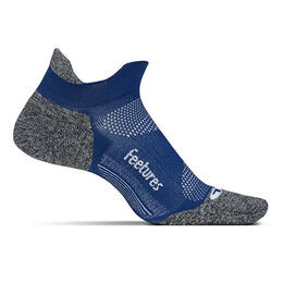 Feetures Men's Elite No Show Tab Light Cushion Running Socks Sapphire