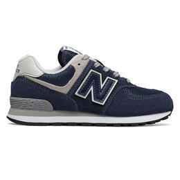 New Balance Boy's 574 Core Navy Running Shoes