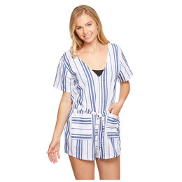 Salt And Jade Women's Havana Stripe Denim Playsuit Romper
