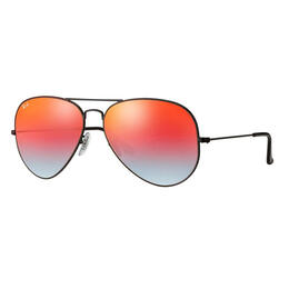 Ray-Ban Aviator Classic Sunglasses With Orange Gradient Lenses