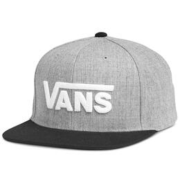 Vans Men's Drop V Snapback Heather Grey Hat