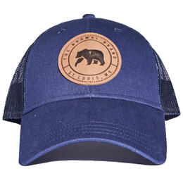 The Normal Brand Men's Leather Patch Trucker Hat