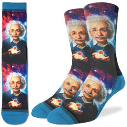 Good Luck Socks Men's Albert Einstein Socks