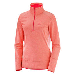 Salomon Women's Discovery Half Zip Top, Dubarry