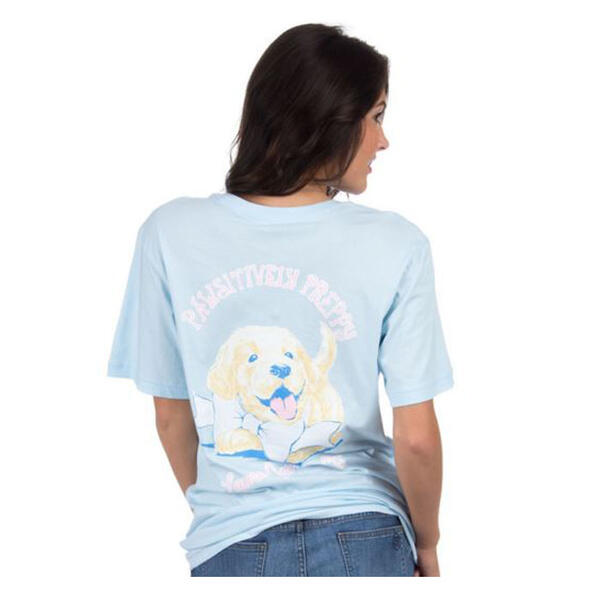 Back of Lauren James Women's Pawsitive Prep Spring Tee Shirt