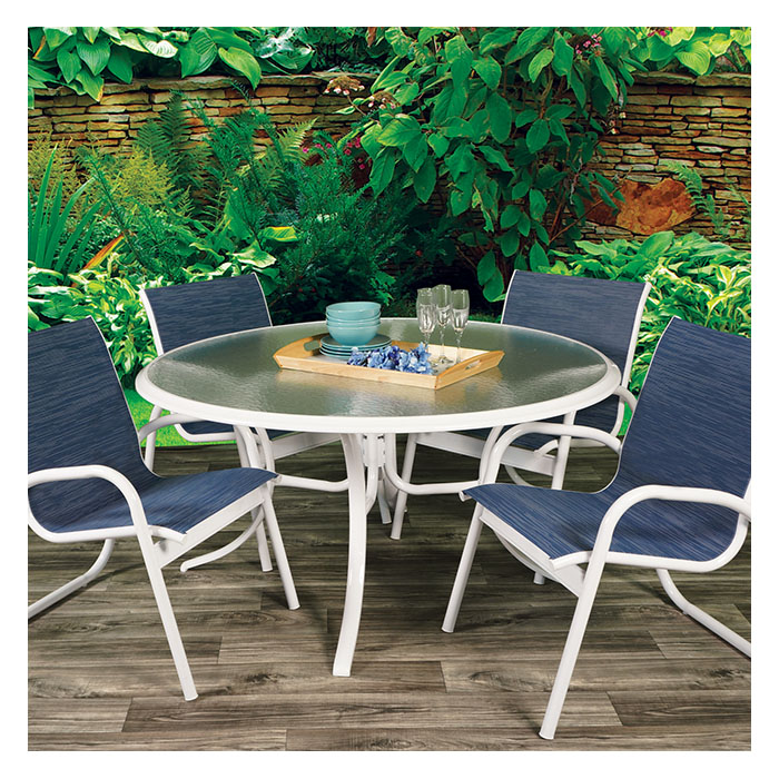 Telescope Casual Gardenella White 7 Piece Dining Set