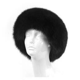 Mitchies Matchings Women's Leather Top Hat with Fox Fur