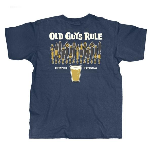 Old Guys Rule Men's Untapped Short Sleeve Tee Shirt