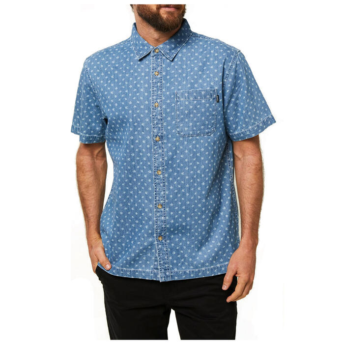 O'neill Men's Palm Brawl Short Sleeve Butto