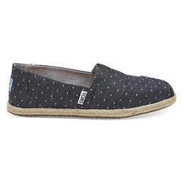 Toms Women's Alpargata Casual Shoes Black Dot