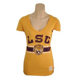 Original Retro Brand Lsu Deep V-neck Tee Shirt