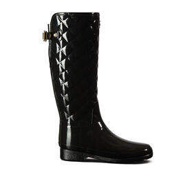 Hunter Women's Refined Gloss Quilted Tall Rain Boots