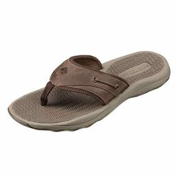 Sperry Men's Outer Banks Thong Brown Flip Flops