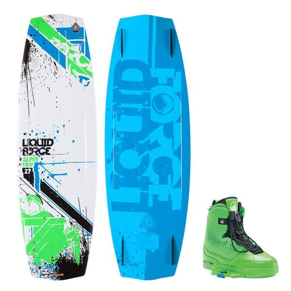 Liquid Force Men's Super Trip Wakeboard W/ Ultra Bindings '15