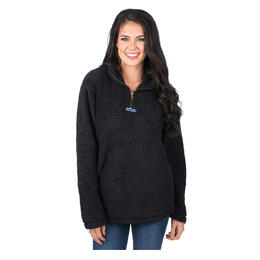Lauren James Women's Linden Sherpa Fleece Hoodie Black
