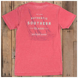 Southern Marsh Men's Seawash T Shirt Strawberry