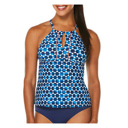 Jag Sport Women's Mykonos Dot High Neck Tankini