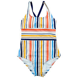 Next By Athena Girl's Sunset Horizon One Piece Swimsuit