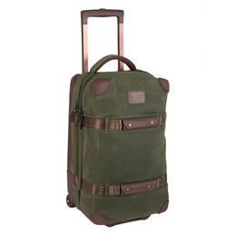 Burton Wheelie Flight Deck Wheeled Luggage Forest Night Waxed Canvas